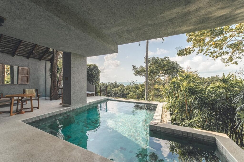 Private Pool Suite with Sea View Thailand