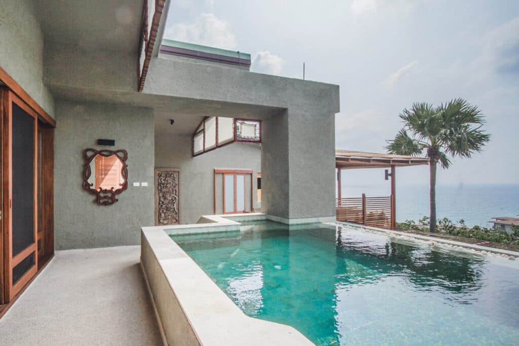 Ocean View Penthouse Pool Suite in Asia