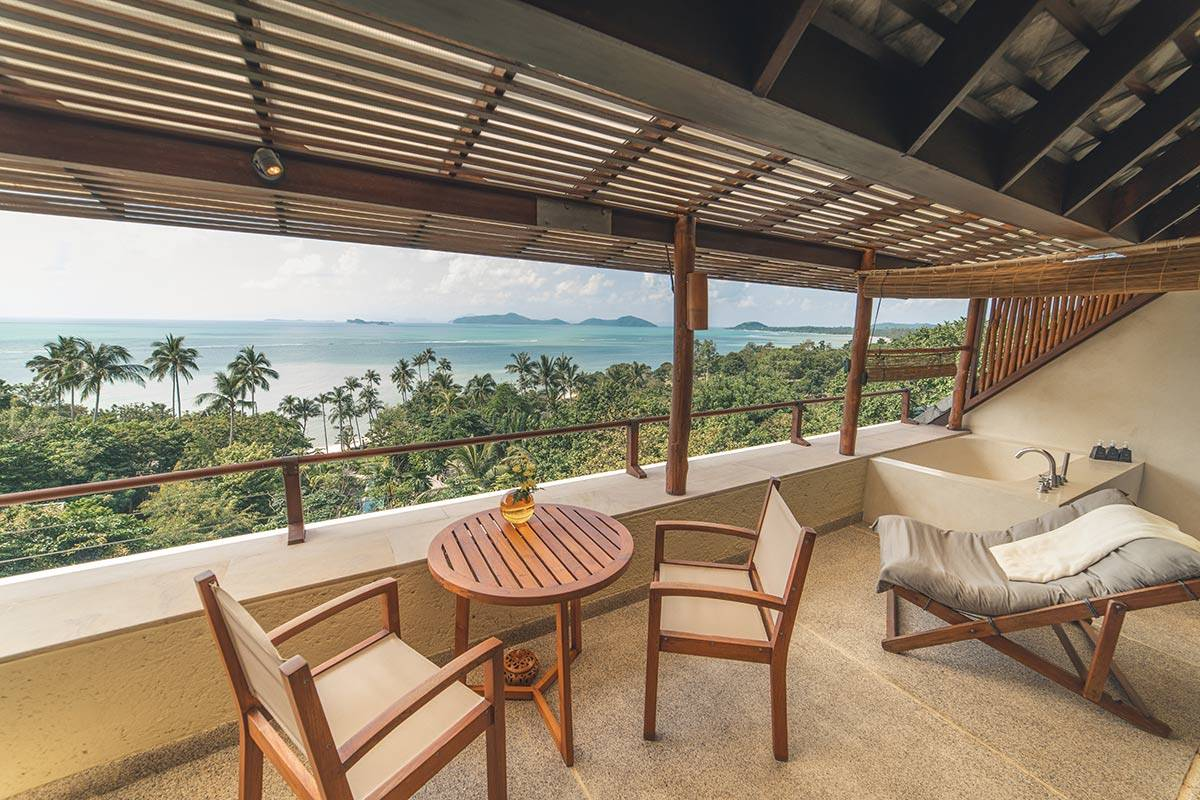 Sea View Accommodations with Balcony in Koh Samui Thailand