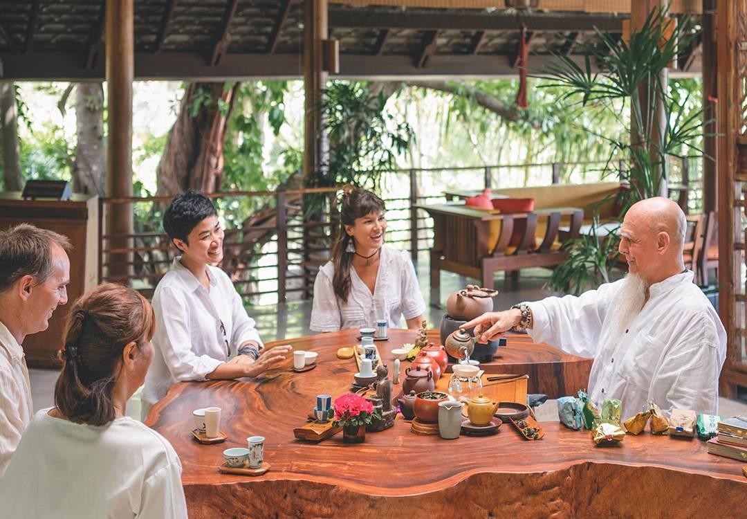 Tea Sharing Ceremony in Thailand Asia